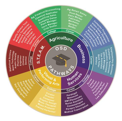 Othello careers pathway wheel