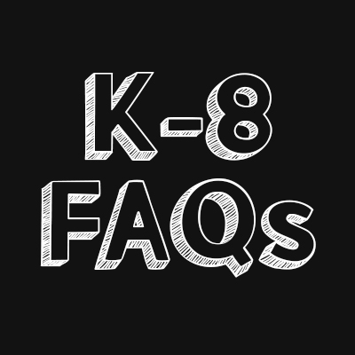 K-8 frequently asked questions logo